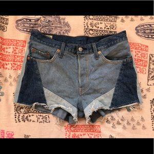 Levi's 501 Colorblock Shorts / Size 29